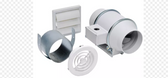 Soler and Palau KIT-TD100 White In-Line Fan Kit