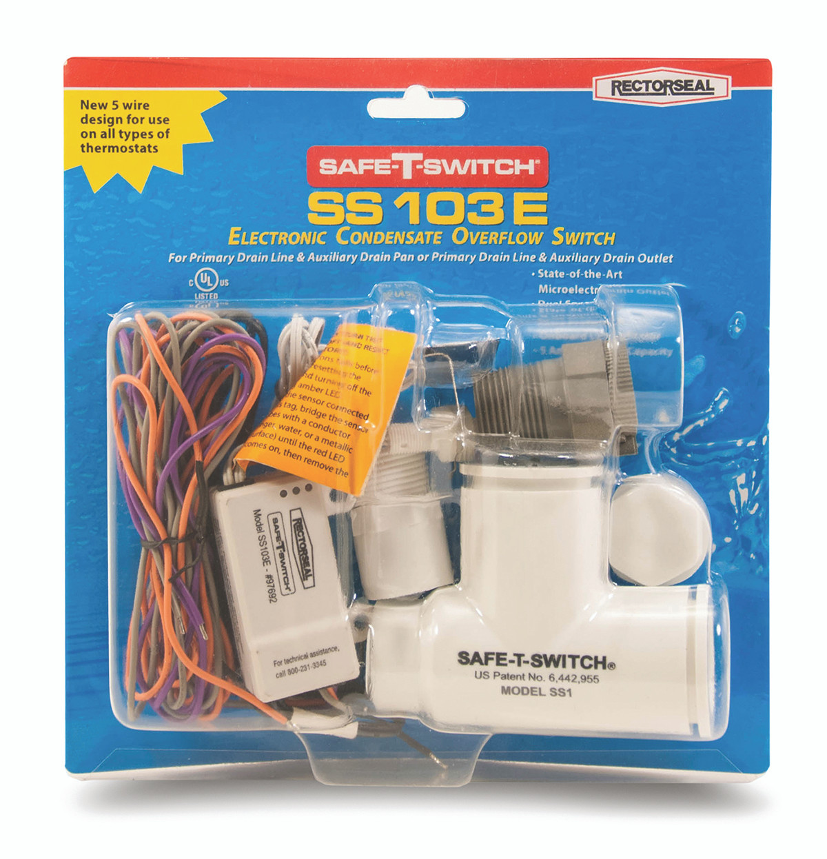 Safe-T-Switch SS500EP Electronic Condensate Overflow Switch
