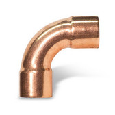 "W02847 1 1/8"" OD ACR Copper Street 90° Long Turn Elbow Ftg x C"