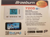 Braeburn 7205 Smart Wi-Fi 7 Day 5-2 or Non Programmable conventional or heat pump Thermostat 3H/2C