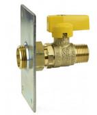 Pro-Flex PFVT-1206 Termination Plate w/ 1/2in (MIP x CSST) Gas Ball Valve