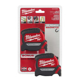Milwaukee 2pk 25' Compact Wide Blade Tape Measures, 48-22-0325G