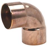 W02028 3/4 OD ACR Copper Fitting 90° SR Elbow CxC