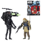 Star Wars 3 3/4 Rogue One Death Trooper And Rebel Commando Pao Action Figure 2 Pack Wave 2 HSB 7073B