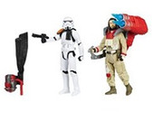 "Star Wars 3 3/4"" Rogue One Baze Malbus And Stormtrooper Action Figure 2 Pack Wave 2  HSB7073B"
