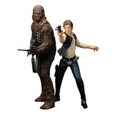 Star Wars 1/10 Han Solo And Chewbacca ArtFx+ Statue KSTW88