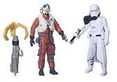 "Star Wars TFA 3 3/4"" First Order Snowtrooper Officer/ Snap Wesley Action Figure 2-Pack Wave 3 HSB3955C"
