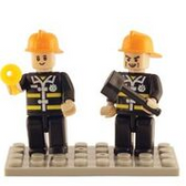 BRICTEK  Fire Brigade 2 Mini Figures 19205
