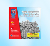 BRICTEK  17 Gray Assorted Baseplates 19015