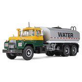 First Gear 1:34 Mack R Water Tank Truck Yellow/Green/Silver 10-4069
