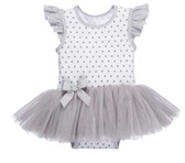 Ganz Baby Misty Grey Diaper Shirt TuTu Cotton (0-6 Months) ER59391