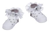 Ganz Baby Misty Grey Socks Cotton ER59399