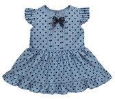 Ganz Baby Blues-Polka Dot Dress Cotton (6-12 Months) ER59372