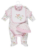 Ganz Baby 4 Piece Bird Layette Cotton (3-6 Months) BG3863