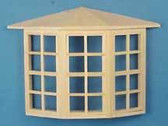 "Houseworks Bay Window 3-8 Light Windows 1/2"" Scale  H5008"