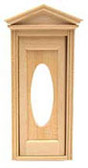 "Houseworks Victorian Oval Door Wood With Interior Trim 1/2"" Scale H6002"