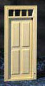 "Houseworks 4-Panel Exterior Door Wood 1/2"" Scale H6001"