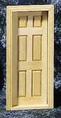 "Houseworks Interior Door With Interior Trim 1/2"" Scale H6007"