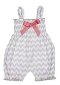 Ganz Baby Chevron Romper Cotton (0-6 Months) ER37113