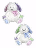 "Ganz Baby Patches Bunny With Rattle 9"" BGE10193"