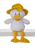 """Ganz Duncan Duck With Rain Hat 8"""" HE10199"""