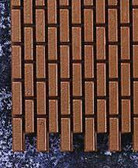 Houseworks Brickmasters Common Joint Brick Sheet 1/24 Scale H8206