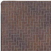 "Houseworks Herringbone Brick Sheet Latex 1/2"" Scale H8210"