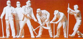 Preiser Track Workers Unpainted 6 Pieces G Scale 45182