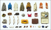 Preiser Clothing, Vest, Bags And Suit Cases G Scale 45223