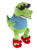Ganz Crocodile With Sunglasses And Flip flops H8893