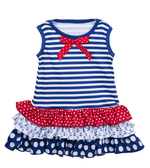 Ganz Baby Nautical Ruffle Dress ( 9-12 Months) BG3807
