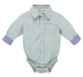 Ganz Baby Diaper Shirt Green/Blue Plaid (0-6 Months)  ER49881