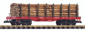 Piko CN Flatcar With Log Load G Scale 38713