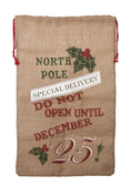 Christmas Sack North Pole Linen EX26789