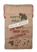 Christmas Sack North Pole Linen EX26789