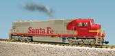 USA Trains G Scale SD-70 MAC Diesel Locomotive, Santa Fe War Bonnet Paint Scheme.