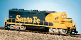 USA Trains GP38-2 G Scale Santa Fe Blue/Yellow