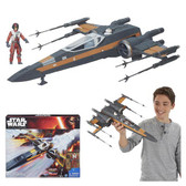 Star Wars TFA Resistance X-Wing Fighter Vehicle Poe's Dameron HSB3953