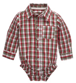 Ganz Bably Red/Blue Plaid Shirt