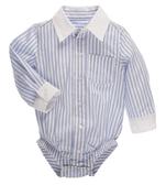 Ganz Shirt Blue And White Stripes ER58463