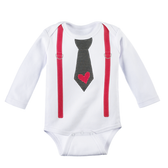 Ganz Baby Diaper Shirt Tie Suspender with Heart 0-6 Months ER40294
