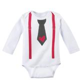 Ganz Baby Diaper Shirt Tie Suspender with Heart 0-6 Months ER40294