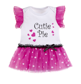 Ganz Baby Cutie Pie Diaper Shirt TuTu 0-6 Months ER38060