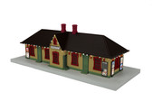 MTH RailKing Country Passenger Springfield Station W/Operating Christmas Light 30-90586