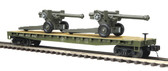 MTH Electric Trains O Scale U.S. Army #609042 Flat Car W (2) 150mm Howitzers 20-95347