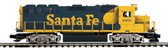 MTH Electric Trains Premier Santa Fe #2965 GP-40 Diesel Engine W/Proto Sound 3.0 O Scale 20-21098-1
