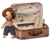 Maileg Cowboy In Suitcase Little Brother Mouse 16-972301