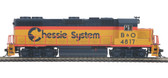 MTH Electric Trains GP38-2 Chessie System Diesel Engine DCC Ready (#4817) HO Scale 85-2044-0