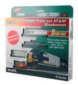 Kato N F7 Freight Train 5 Car Set AT & SF Bluebonnet N Scale 106-6273