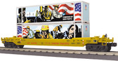 MTH Electric Trains Railking Union Pacific Powered by the People Husky Stack Car O scale 30-76800